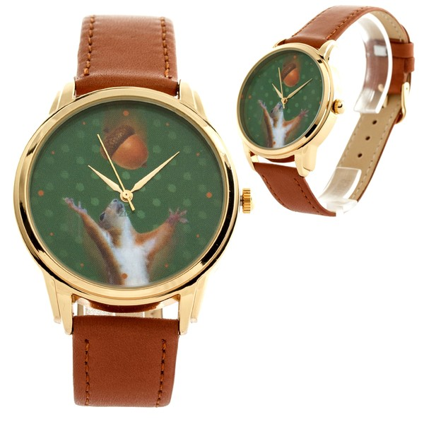 jewels squirrel nut brown watch watch ziz watch ziziztime