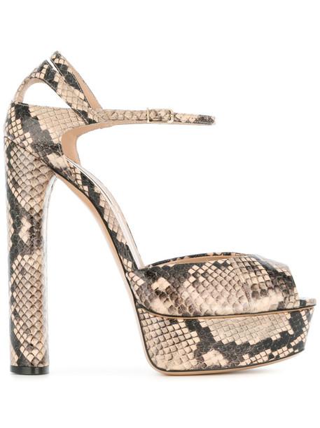 CASADEI snake women king sandals platform sandals leather nude shoes