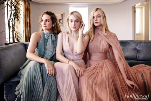 elle fanning dress peach dakota fanning