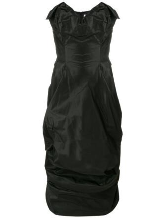 dress draped dress strapless women spandex draped cotton black silk