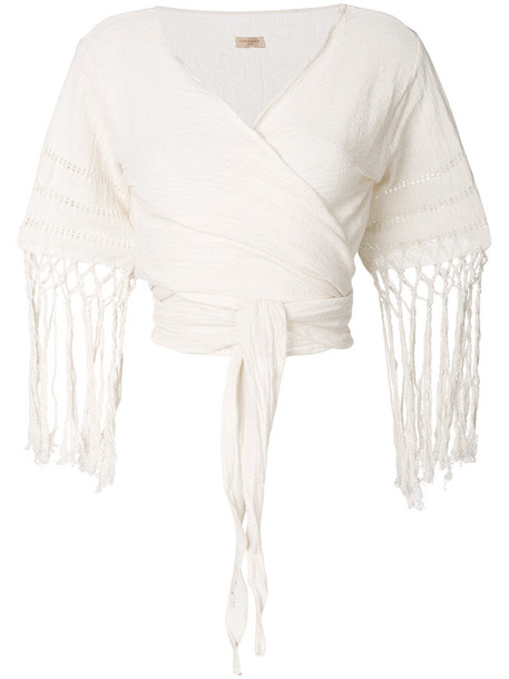 Caravana top women white cotton