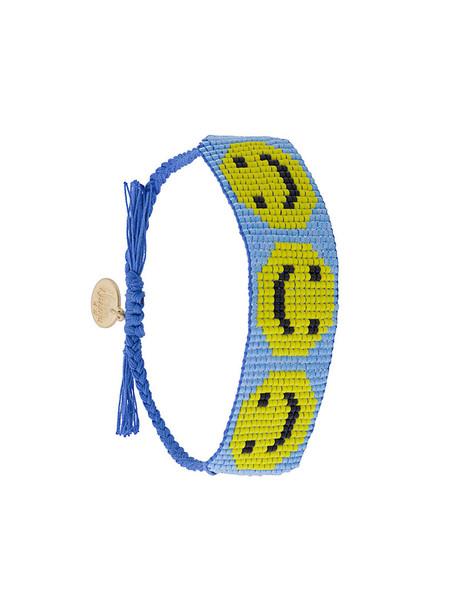 Venessa Arizaga women smiley blue jewels