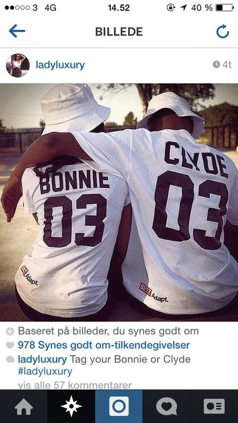 top bonnie and clyde t-shirt shirt adapt couple sweaters couples shirts breezy