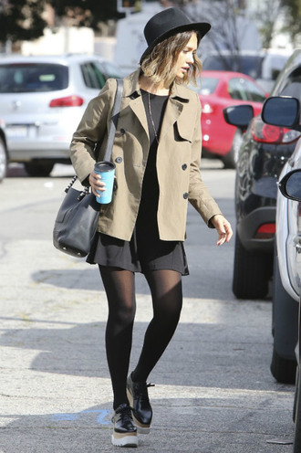 shoes dress jessica alba tights jacket