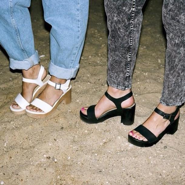 shoes white black grunge hipster vintage sandals