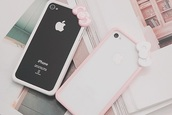 phone cover,hello kitty,bow,phone,pink,pastel