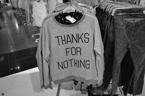 gray sweater shirt thanksfornothing teenagers sarcastic grey thanks for nothing tumblr tumblr girl heart new york city swetshirt jumpsuit
