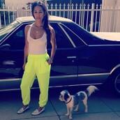 pants,neon,neon yellow