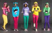 sweater,clothes,hoodie,onesie,cute,cute sweaters,monsters,jacket,top,pink,blue,green,yellow,purple,monster,multicolor,pokemon