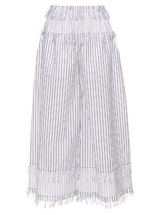 cotton white black pants