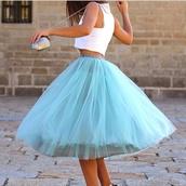 skirt,blue skirt,huge,beautiful,poofy skirt,wanna have fun