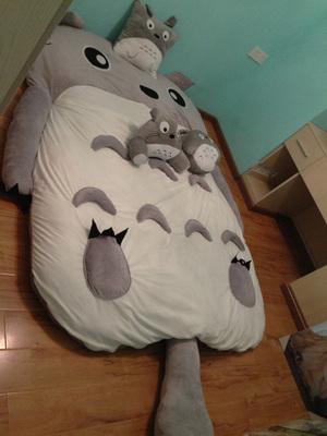 Unpick And Wash Beanbag Cartoon Bed Totoro Mattress Double