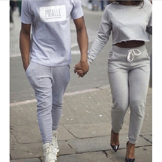 grey tracksuitbottoms joggers