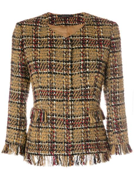 TAGLIATORE jacket women cotton wool brown