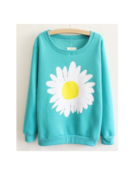 sweater floral daisy stylish blogger pullover fall outfits fall outfits hool morn swet wow workout gym leggins lovely sweat the style