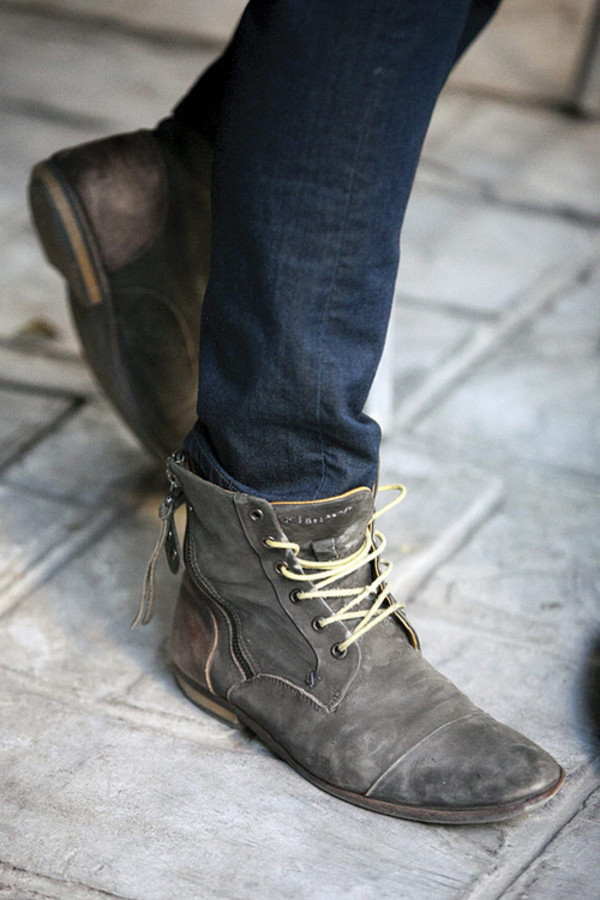 Shoes Clothes Guys Combat Boots Mens Fashion Suede