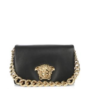 catch new images of really comfortable Versace Black Medusa Shoulder Bag - Leather - Sale