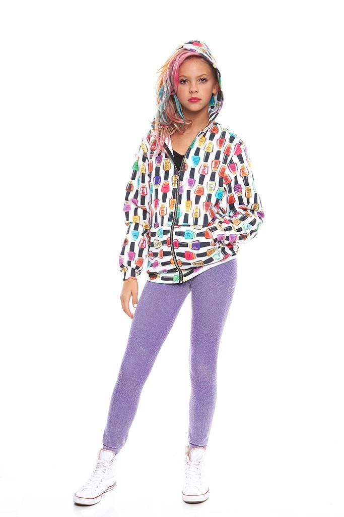 Girls nail polish hoodie
