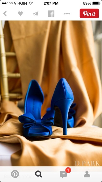 shoes wedding shoes blue bows party shoes blue heels