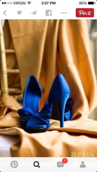 shoes wedding shoes blue bows