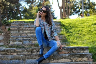 rana demir blogger ripped jeans spring jacket black boots