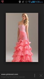dress,strapless sweetheart neckline,mermaid prom dress,pink dress,beaded long dress,pink,prom dress,prom