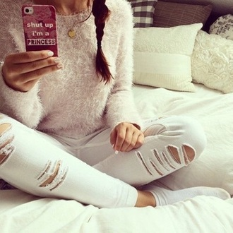 jeans white jeans phone case top