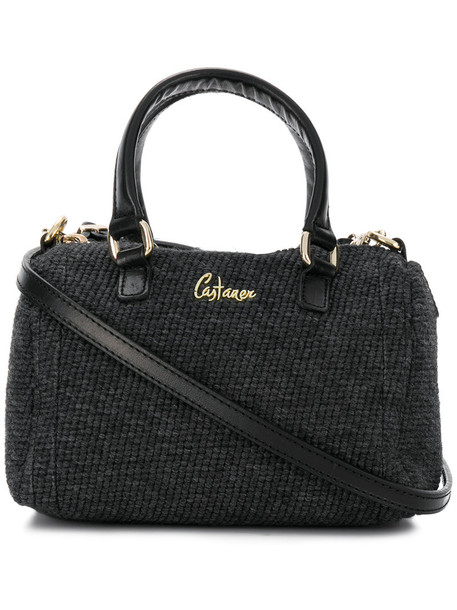 CASTAÑER women leather wool grey bag