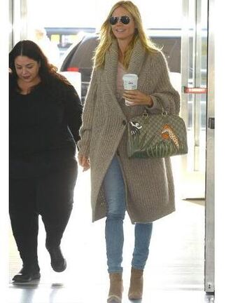 cardigan oversized sweater oversized cardigan heidi klum fall outfits boots