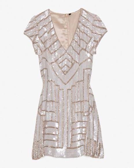 sparkle the great gatsby geometric pattern geometric sparkle dress