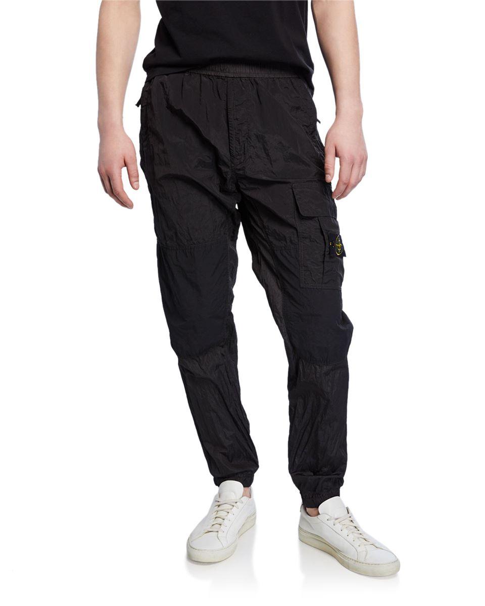 Men's Nylon Cargo Tapered Pants