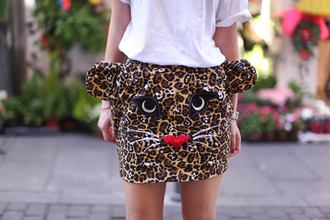 skirt cute tiger clothes animal print animal head original