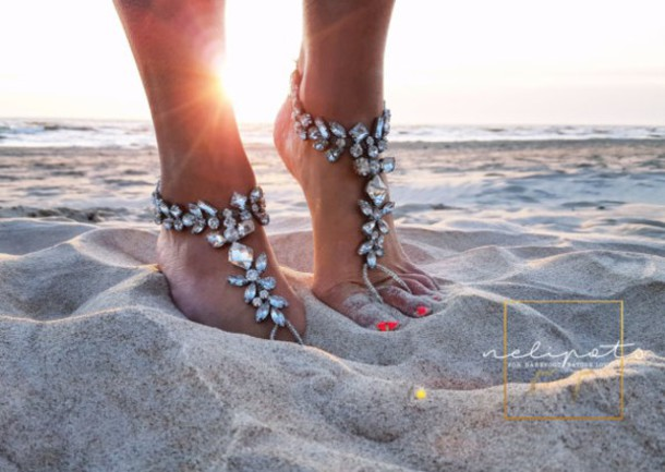 jewels barefoot sandals barefoot wedding bridal jewelry beach