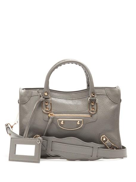 Balenciaga metallic bag light grey