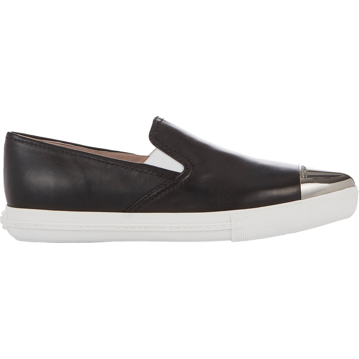 Miu Miu Metallic-Toe Sport Sneakers at Barneys.com