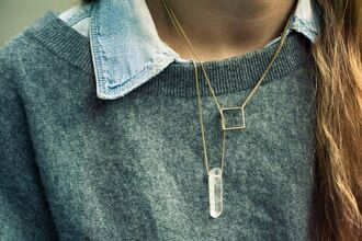 jewels necklace crystal accessories minimalist jewelry