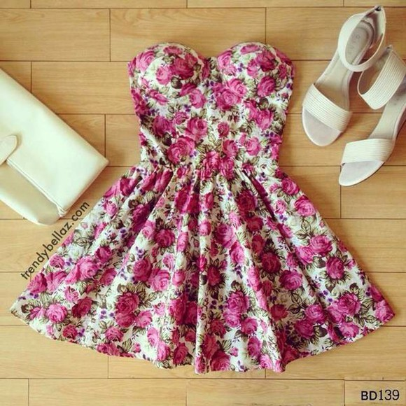 bustier dress roses party dress floral skater dress shorts uk
