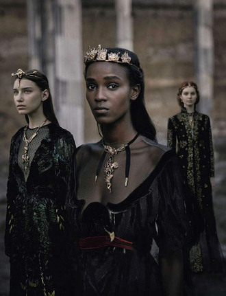 the clothes blogger crown halloween witch valentino fairy tale