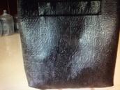 bag,oracle lines,leather look bag,leather bag,shoulder bag,red,black,green dress,blue