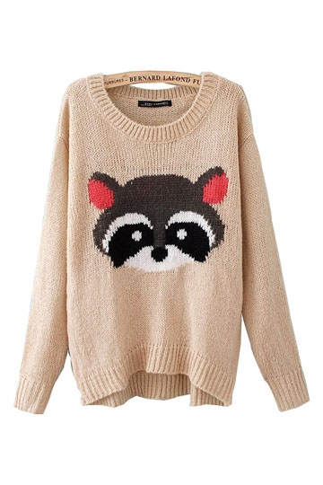 Fashion Bear Pattern Printing Sweater [FKBJ10415]- US$ 27.99 - PersunMall.com