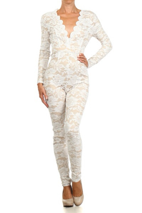jumpsuit bodysuit lace up sexy fashion dope