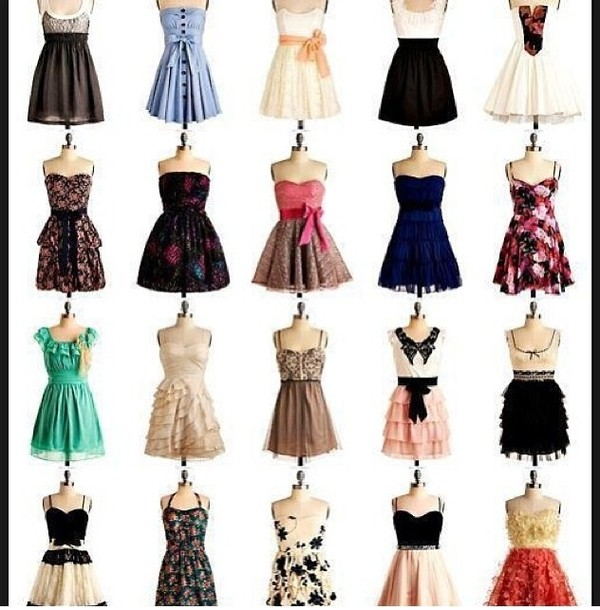 dress dress fancy and casual frilly summer cute cute dress white black floral floral dress retro dress collar red orange yellow blue peach indigo turquoise sequins bows bow flowy dress strapless dress little black dress homecoming dress make-up underwear top girl girly girly wishlist crop cropped crop tops alien