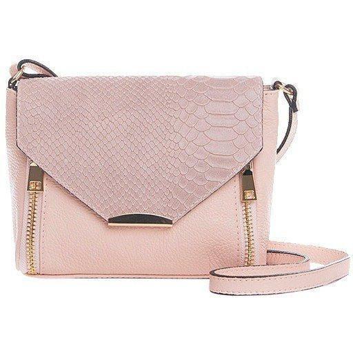 Rose Snake-Embossed Leather Italian Crossbody Bag