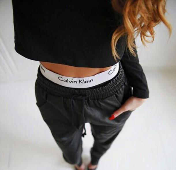 underwear calvin klein underwear jeans black jeans leather pants pants black pants calvin black calvin klein