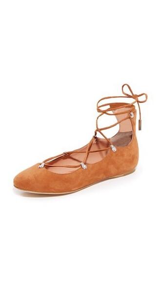 ballet dark tan flats ballet flats shoes