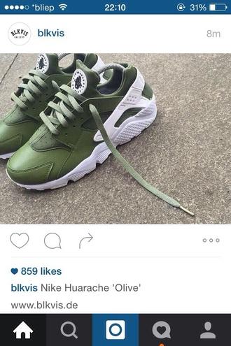 shoes nike olive green huarache
