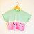 Tie Dye Dip Dye Crop Top abgeschnitten T Shirt Sommerurlaub Hipster Festival Wassermelone kleine   mittlere Pink / Grün