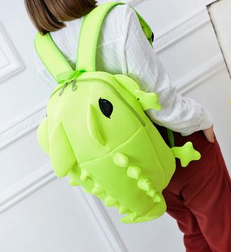 bag funny cartoon monster dinosaur backpack