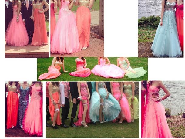 dress pink blue pink dress blue dress prom prom dress homecoming homecoming dress