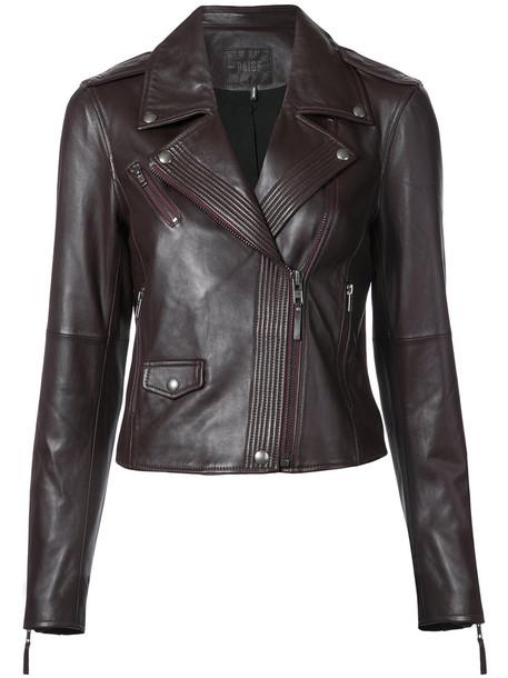 jacket biker jacket women leather red